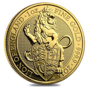 2016 Gold Queens Beasts Lion of England coin