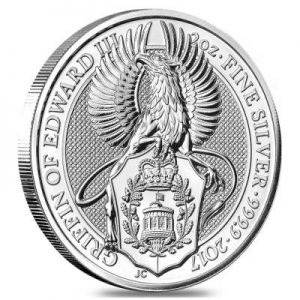 2017 Silver Queens Beasts Griffin Edward III coin 2 oz