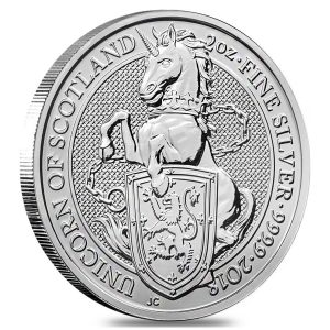 2018 Queens Beasts Unicorn coin 2 oz silver