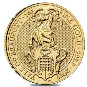 2019 Queens Beasts Yale coin 1 oz fine gold