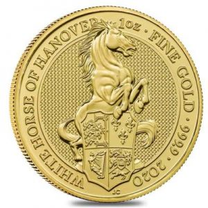 2020 Queens Beasts Horse of Hanover coin gold 1 oz