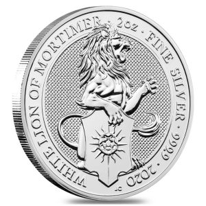 2020 Queens Beasts Mortimer Lion coin 2 oz silver