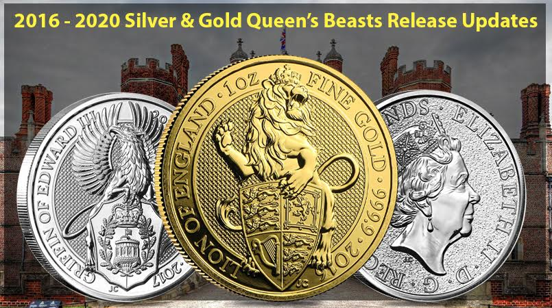 2016 – 2020 Silver & Gold Queen's Beasts Series Release