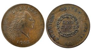 1793 Chain Cent valuable US coins