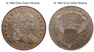 1804 Silver Dollar valuable US coins