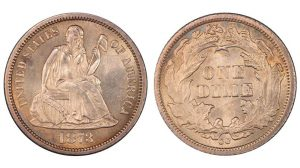 1873 Liberty Seated Dime valuable US coins