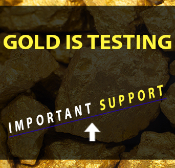 Gold is Testing Important Support