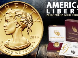 The All-New 1/10th American Liberty Proof Gold Coin is Now Available