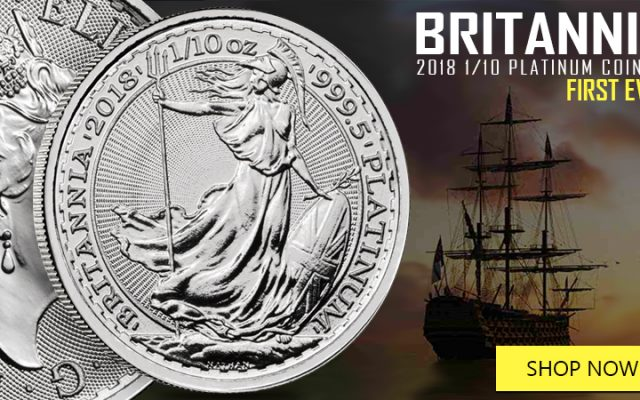 Available for the First Time: The 1/10 oz. Platinum Britannia