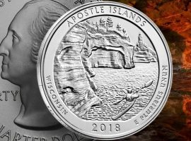 Apostle Islands Lakeshore America the Beautiful Silver Coin