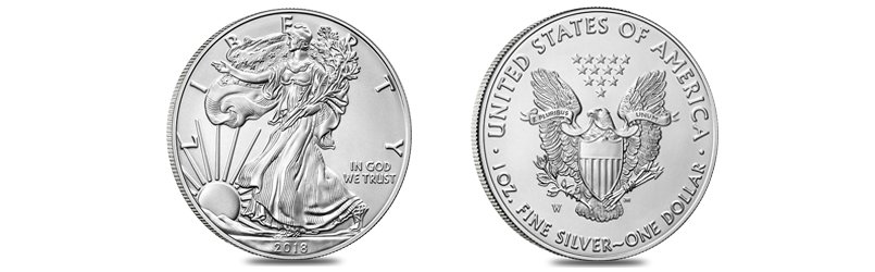 burnished silver american eagle coin
