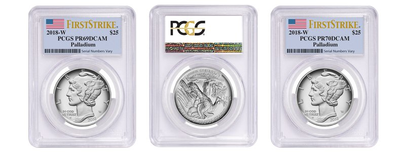 2018-W 1 oz Proof Palladium American Eagle PCGS PF 70 FS
