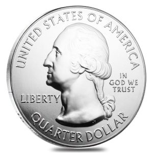 American Memorial Park, Silver, obverse, quarter, George Washington, ATB