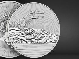 2019 2 oz Silver Piedfort Crocodile Perth Mint