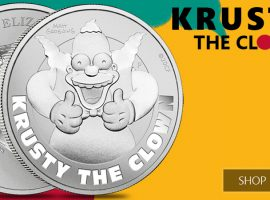 Give a Round of Applause for the New Krusty the Clown Silver Coin!