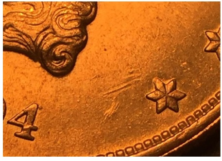 1904 Gold Double Eagle counterfeit coin background error hint clue