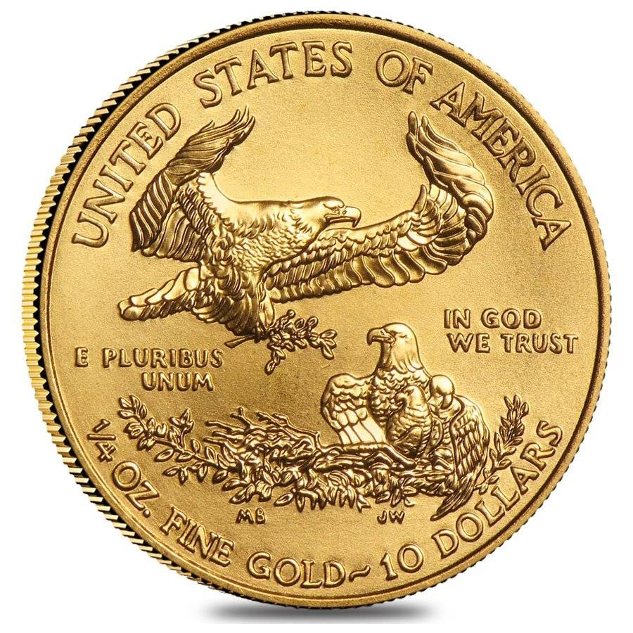 2020 Gold American Eagle reverse US Mint 1/4 oz