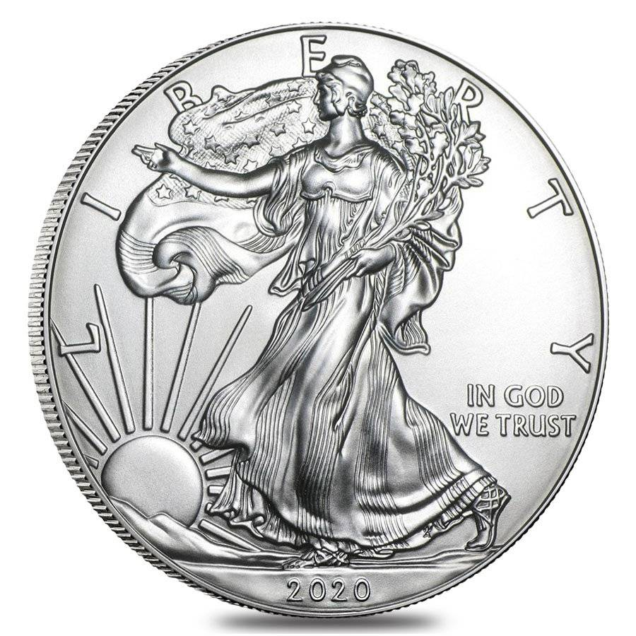 US Mint 2020 Silver American Eagle Coin Obverse 1 oz