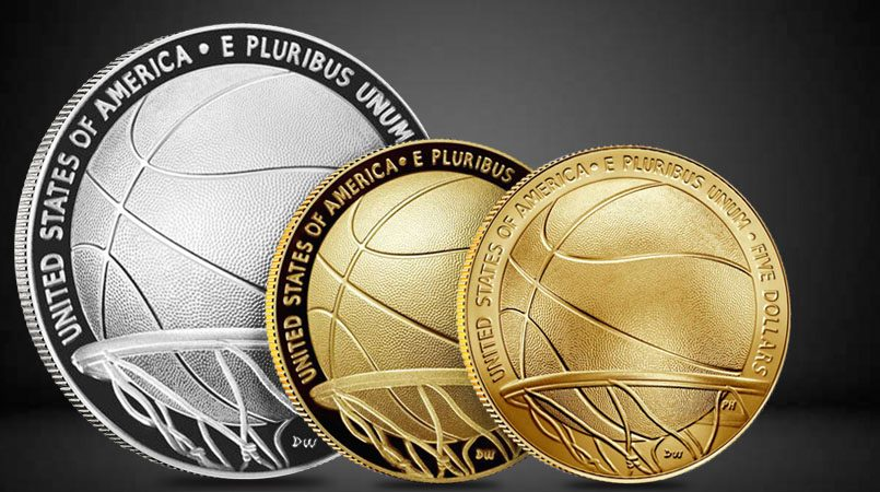 Limited Edition Basketball Hall of Fame Anniversary Coins