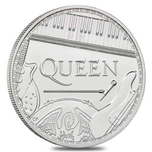 Queen Music Legends silver coin British Royal Mint 2020