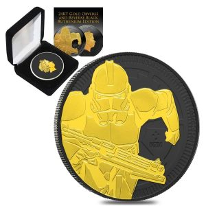 2019 1 oz Niue Silver $2 Star Wars Clone Trooper Black Ruthenium 24K Gold Edition (w/Box & COA) Bullion Exchanges New Zealand Mint