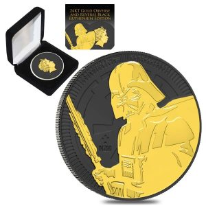2019 1 oz Niue Silver $2 Star Wars Darth Vader Black Ruthenium 24K Gold Edition (w/Box & COA) Bullion Exchanges New Zealand Mint