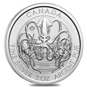 2020 2 oz Royal Canadian Creatures of the North Series The Kraken Silver Coin BU Bullion Exchanges Royal Canadian Mint