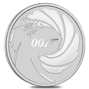2020 1 oz Tuvalu James Bond 007 Silver Coin .9999 Fine Silver BU In Cap Bullion Exchanges Perth Mint