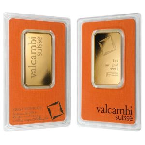 1 oz Gold Bar Valcambi Suisse .9999 Fine (In Assay) Bullion Exchanges