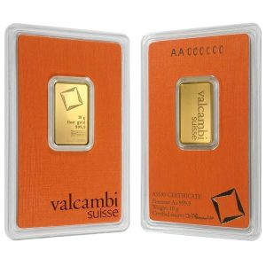 10 gram Gold Bar Valcambi Suisse .9999 Fine (In Assay)