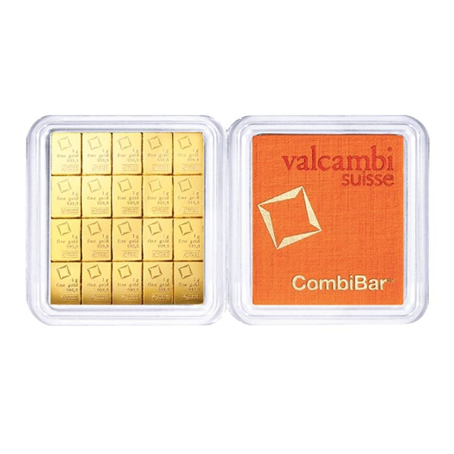 20 x 1 gram Gold Valcambi CombiBar .9999 Fine In Assay Bullion Exchanges