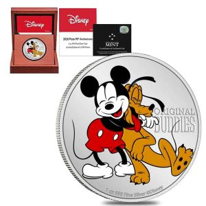 Mickey and Pluto Disney Coin