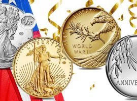 US Mint WWII Anniversary Bullion Coins & Medals