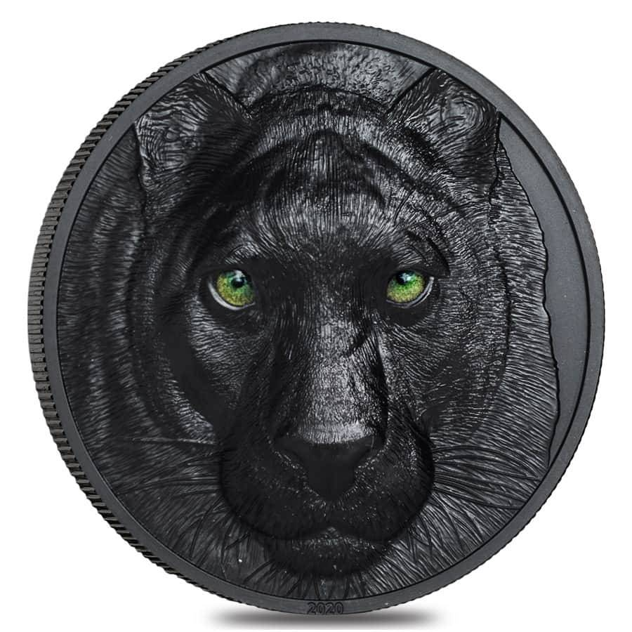 2020 2 oz Silver Hunters by Night - Black Panther Coin