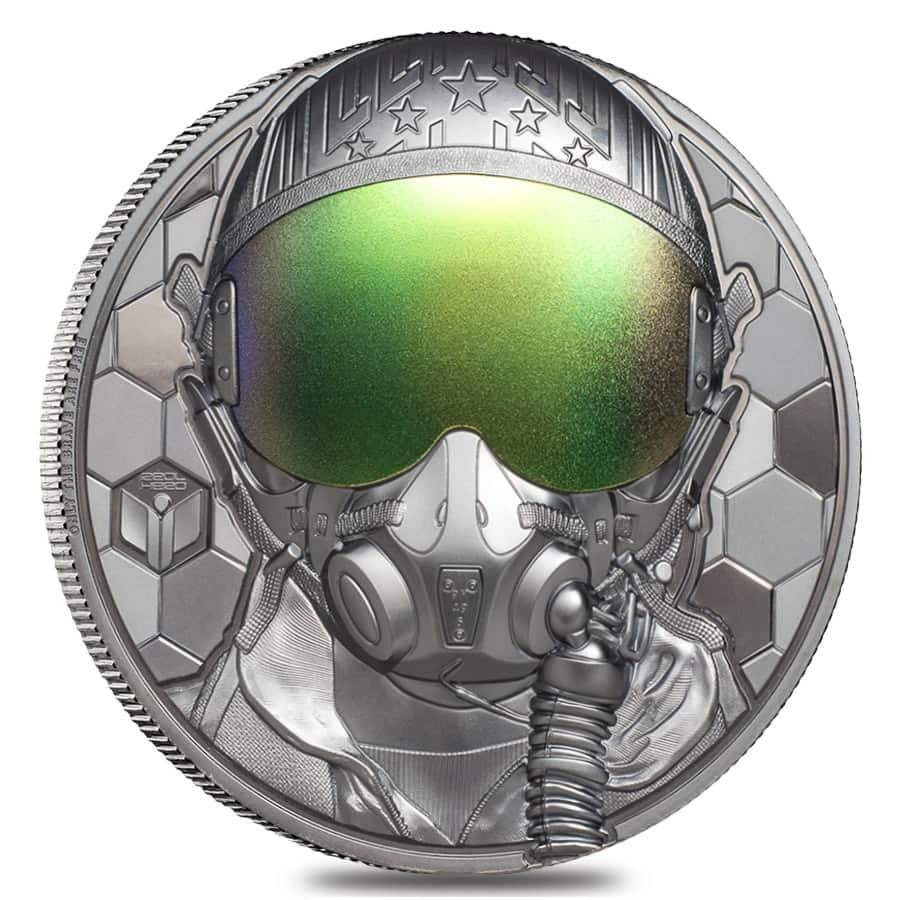 2020 3 oz Proof Silver Real Heroes - Fighter Pilot Coin