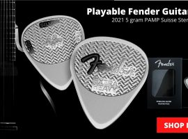 Time to Rock and Roll with Fender Silver Guitar Pick!