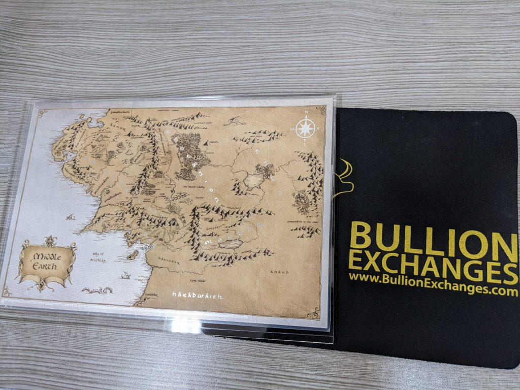Lord of the Rings silver map middle earth bullion exchanges