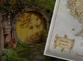 LOTR Silver Map Foil To Take You There & Back Again