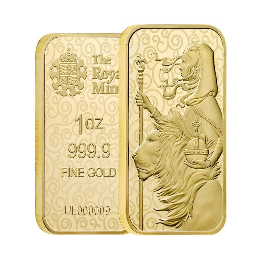 Una and the Lion gold bar Royal Mint Bullion exchanges