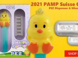 PAMP Suisse Silver Chick PEZ Set Puts A Spring In Your Step