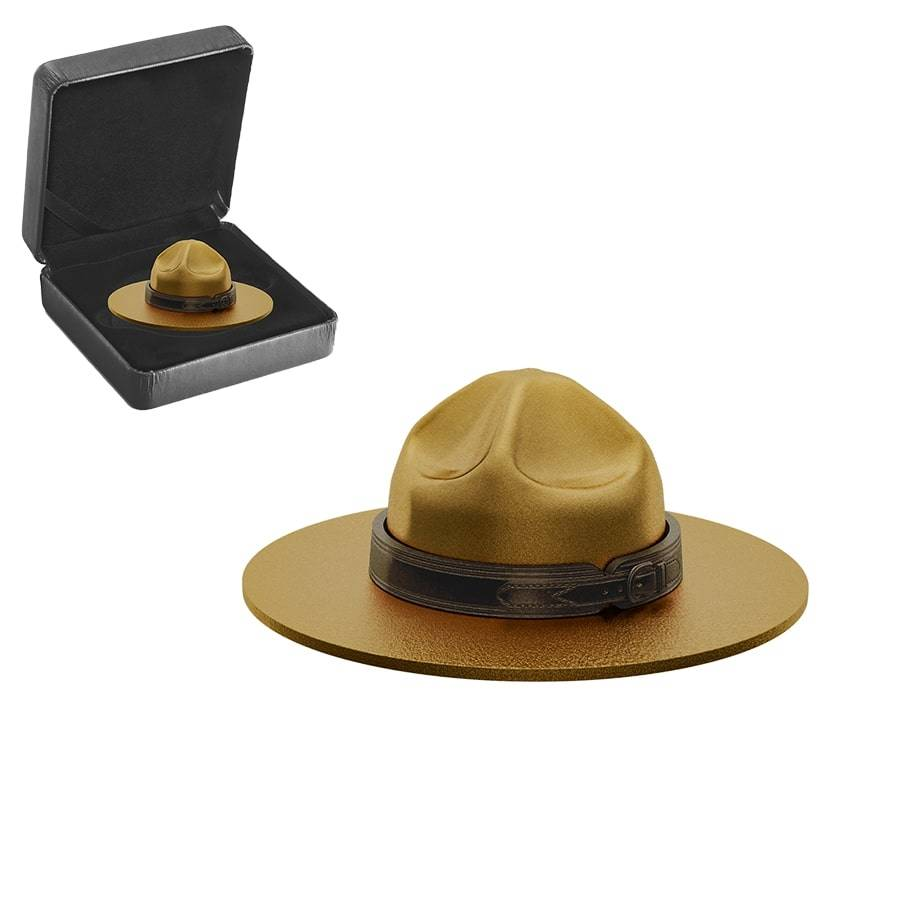 Royal Canadian Mint Mountie Hat Silver Coin