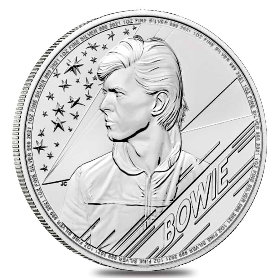 Royal Mint Music Legends Bowie coin silver