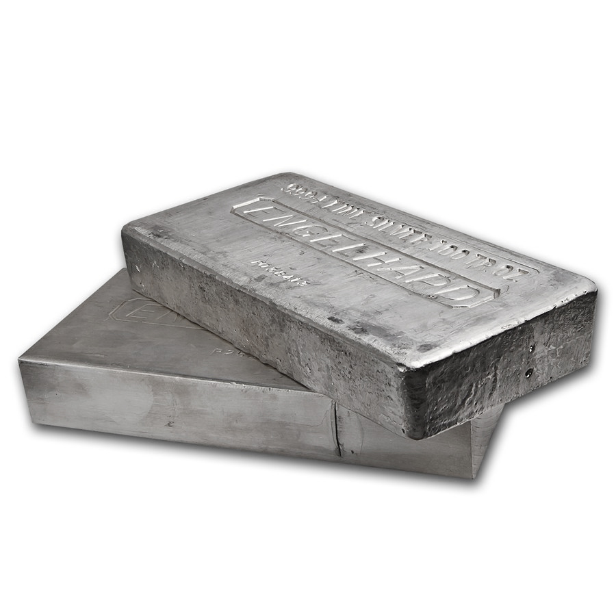 100 Oz Engelhard Silver Vintage Bar 999 Fine