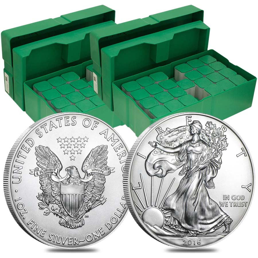 500 Oz Silvers: 2016 1 Oz Silver American Eagle