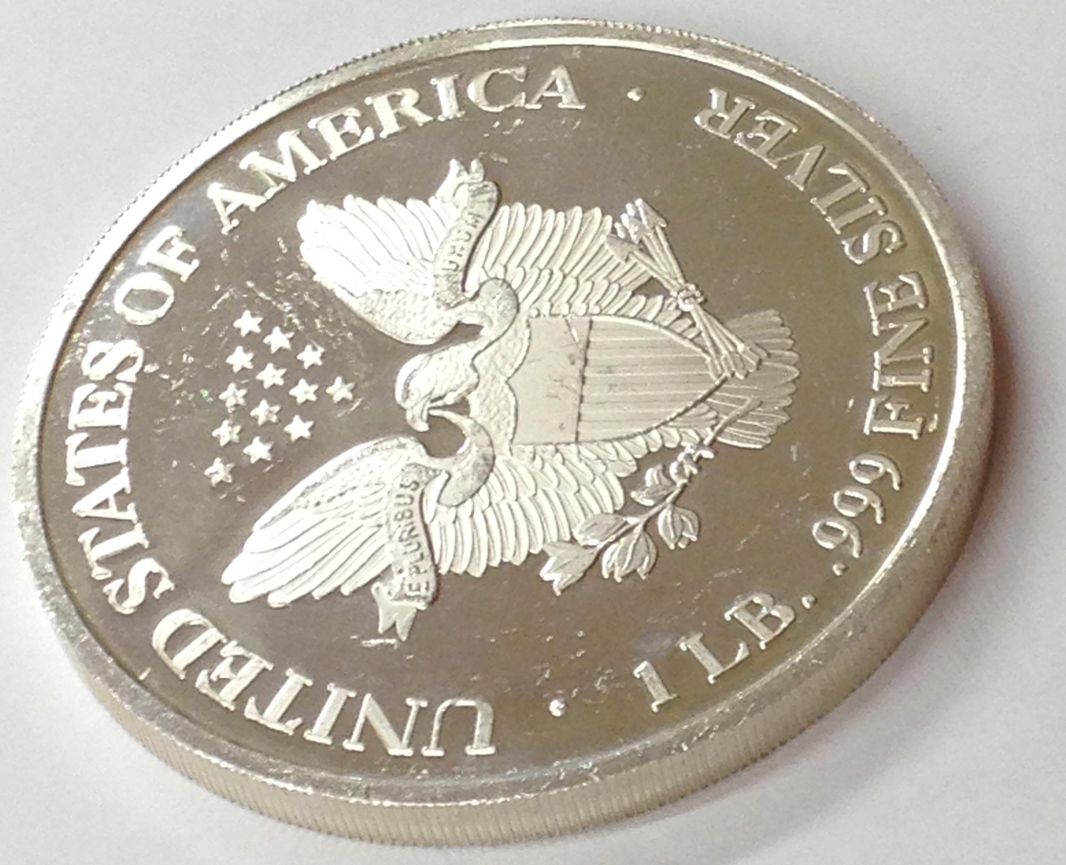 2003 1 Lb Proof American Silver Eagle Round 11 97 Troy Oz Of 999 Fine Silver Ebay