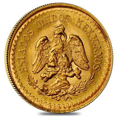 2.5 Pesos Mexican Gold Coin AGW .0603 oz AU/BU (Random Year)