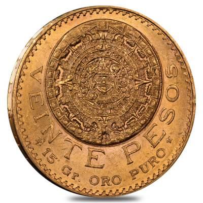 1921 Mexico 20 Pesos Gold Coin AU/BU