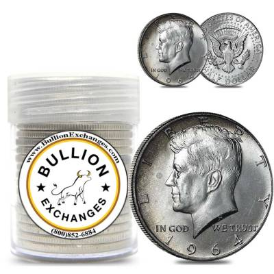BONUS 90/% Silver Walking Liberty /& 40/% Silver Kennedy $10 Half Dollar Bank Roll