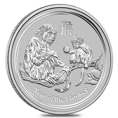 2016 P SILVER AUSTRALIA $1 LUNAR YEAR OF THE MONKEY COIN IN CAPSULE SERIES II