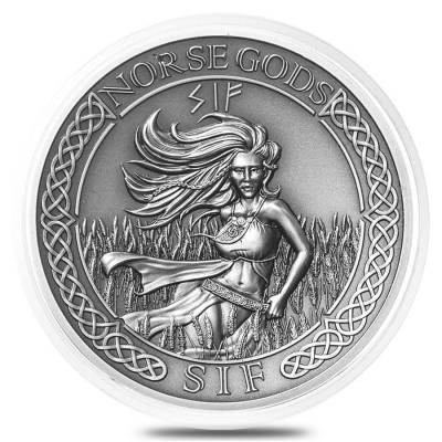 38.6 mm Empty Coin Capsule For 2 oz Silver Queen's Beasts